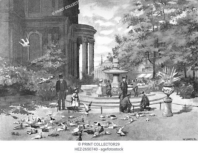 'St. Paul's Churchyard', 1891. Artist: William Luker