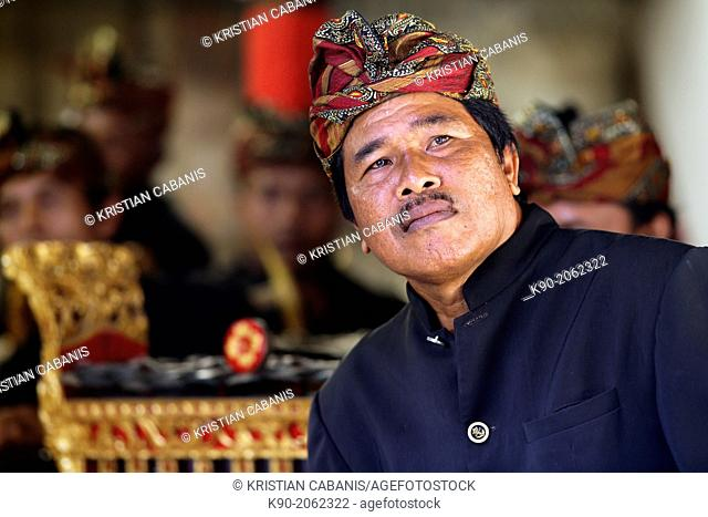Gamelan - traditional balinese orchestra and musicians, Bali, Indonesia, Southeast Asia