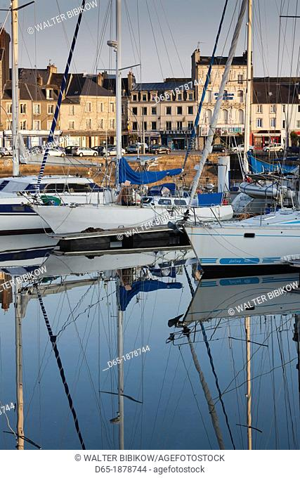 France, Normandy Region, Manche Department, Cherbourg-Octeville, Bassin du Commerce basin, boats