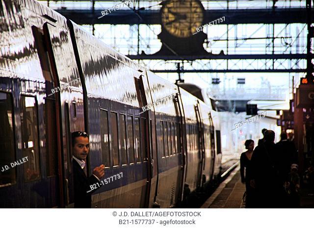 France, Aquitaine, Gironde,  'Gare Saint jean' railway station at Bordeaux