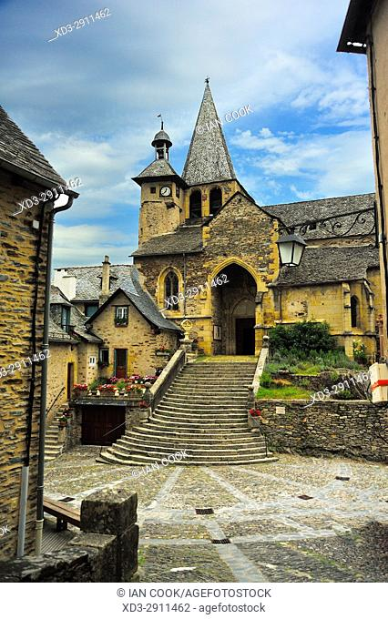 Church of Saint-Fleuret, Estaing, Aveyron Department, Occitane, France