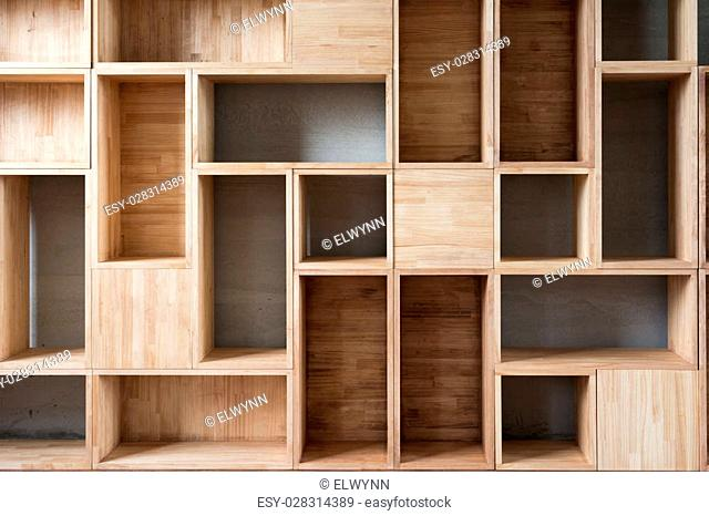 Empty wooden boxes on the ground in a room