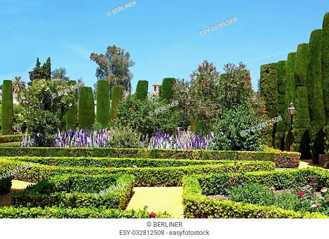gardens of Alcazar of Cordoba, Alcazar de los Reyes Cristianos, Spain