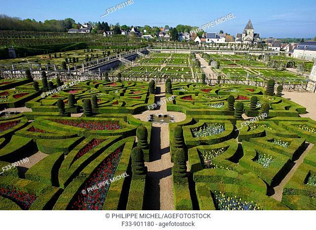 Castle of Villandry gardens, Indre-et-Loire, France