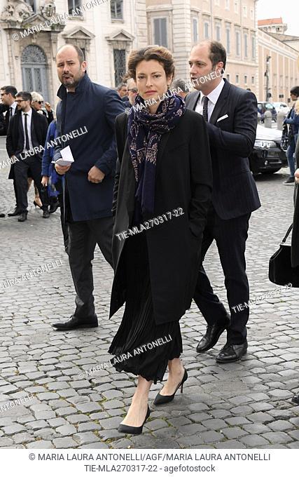 Ginevra Elkann arrives for David di Donatello Awards nominees prize, Quirinale, Rome, ITALY-27-03-2017