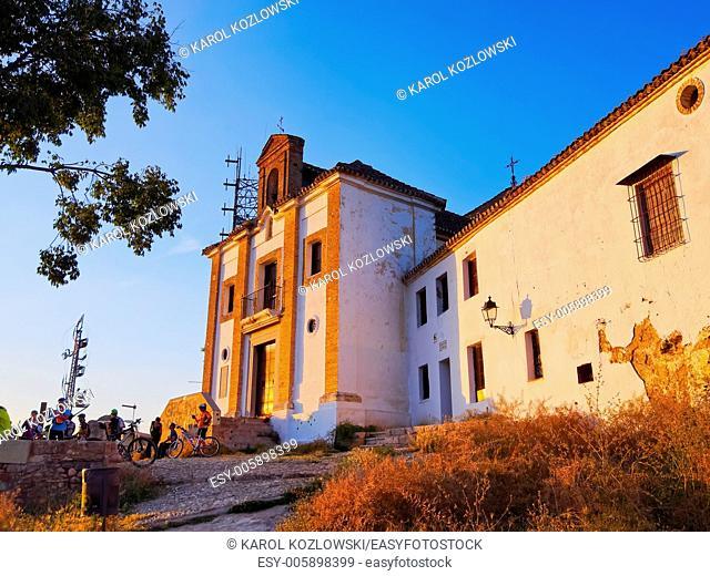 Ermita de San Miguel el Alto in Granada - beautiful city in Andalusia, Spain