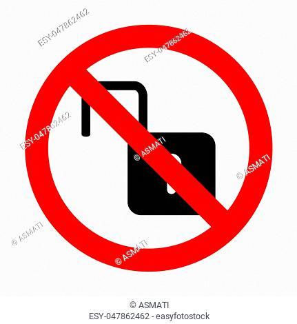 No Unlock sign illustration
