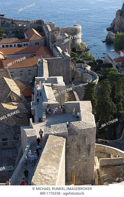 City of Dubrovnik with town hall on the coast of the Adriatic Sea, Croatia, Europe