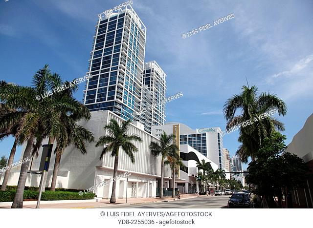Tall buildings in Miami Beach