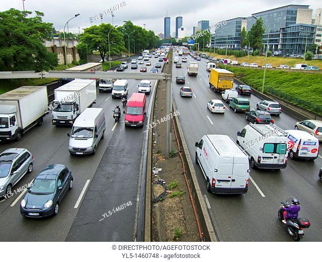 Paris, France, Ring Road, Highway, Street Scene, Traffic