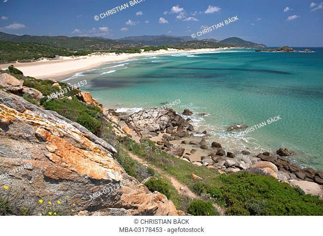 Italy, Sardinia, South Sardinia, South coast, Chia, Baia Chia, Costa del Sud