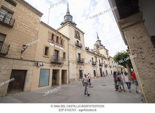City hall square in Burgo de Osma village Soria province Castile Leon Spain
