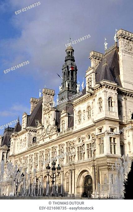 Hôtel de Ville de Paris, Paris City Hall, France