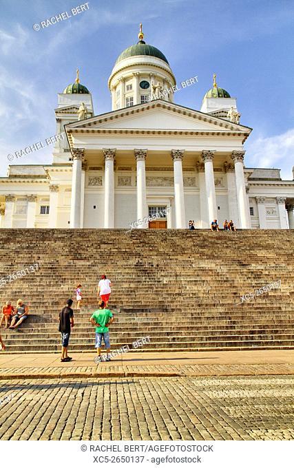 Senate square and Helsinki Cathedral, Helsinki, Finland