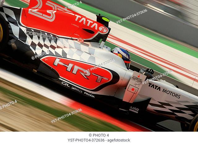 Daniel Ricciardo AUS HRT, F1, Indian Grand Prix, New Delhi, India