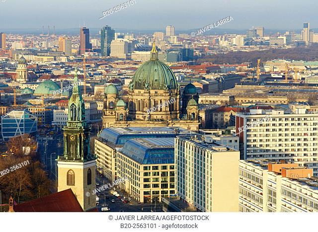 Berliner Dom, Marienkirche church, Alexander platz, Berlin, Germany