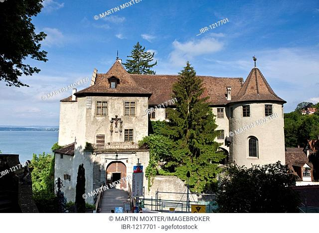 The Altes Schloss old castle, Meersburg on Lake Constance, administrative district of Tuebingen, Bodenseekreis district, Baden-Wuerttemberg, Germany, Europe