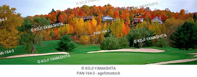 Golf course, St. Hippolyte, Laurentides, Quebec, Canada, No Release