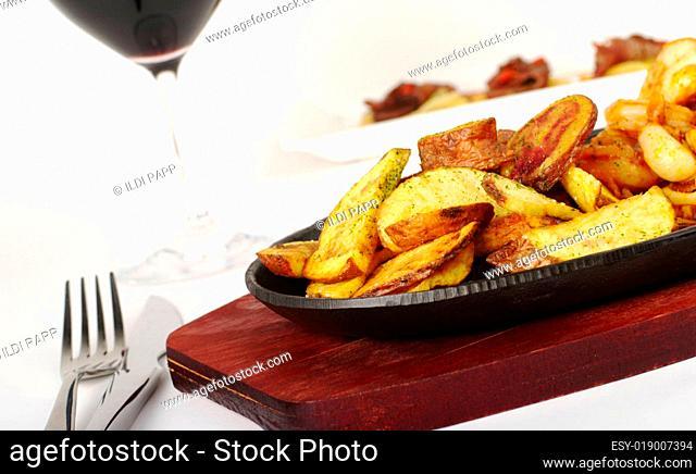 Fried Potato Slices