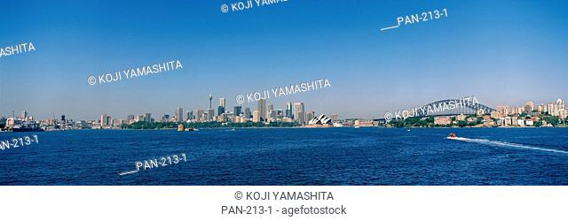 Skyline with Harbor Bridge and Opera House, Sydney, Australia