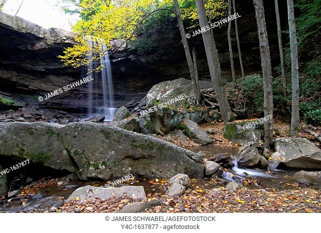Cucumber Falls in Ohiopyle State Park in southwestern Pennsylvania