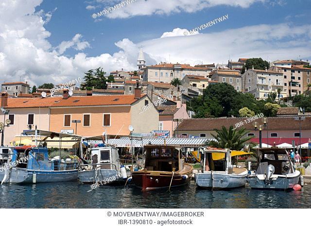 Vrsar port on the Adriatic coast, Istria, Croatia, Europe