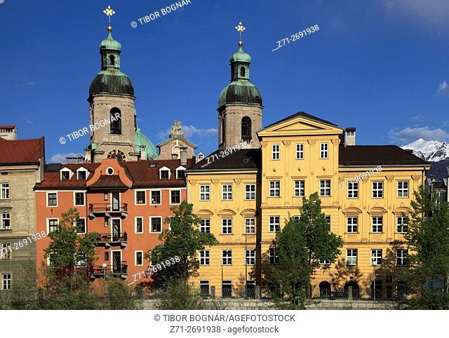 Austria, Tyrol, Innsbruck, skyline, cathedral,