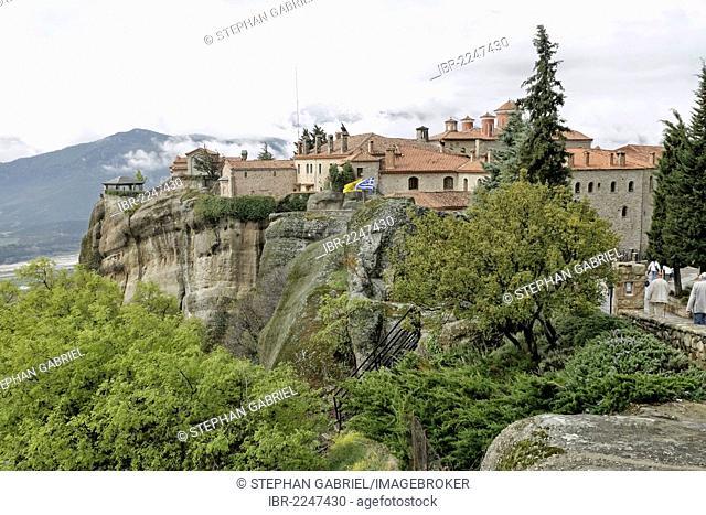 Monastery of Saint Stefanos, Meteora monastries, Meteora rocks, near the town of Kalambaka in Thessaly, Greece, Europe