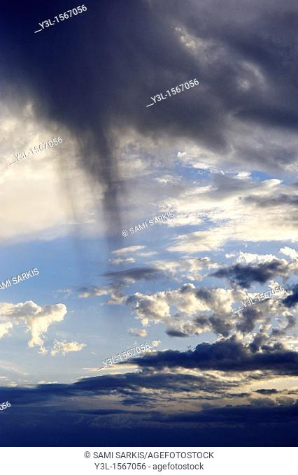 Stormy sky at dusk
