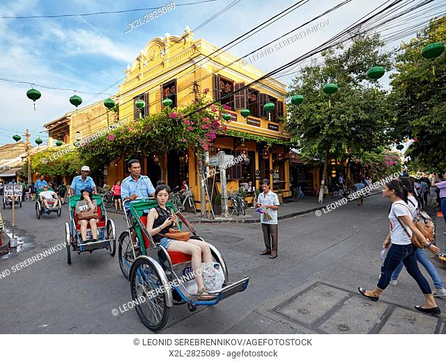 Cyclos in Hoi An Ancient Town. Quang Nam Province, Vietnam
