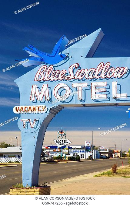USA  New Mexico  Route 66  Tucumcari  Blue Swallow Motel Route 66 landmark