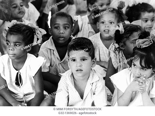 Children in daycare center, Santiago de Cuba, Cuba