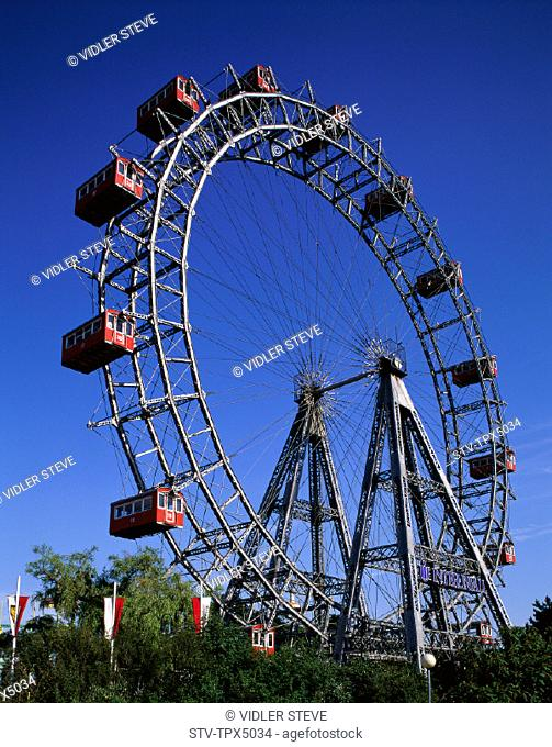 Amusement, Austria, Ferris, Giant, Holiday, Landmark, Park, Prata, Tourism, Travel, Vacation, Vienna, Wheel