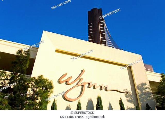 Low angle view of a hotel, Wynn Las Vegas, The Strip, Las Vegas, Nevada, USA