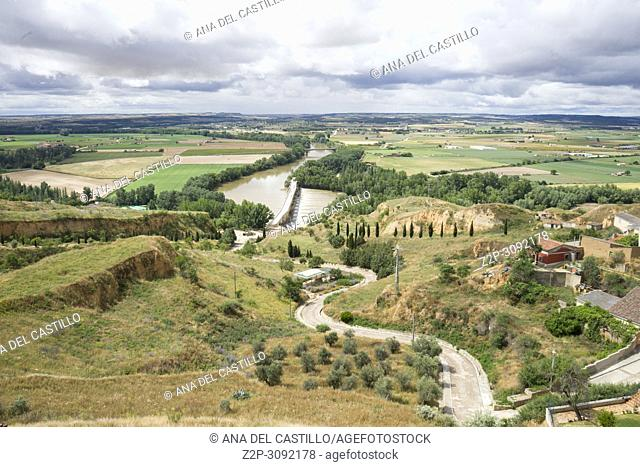 Panorama from Toro city in Zamora province Castile Leon Spain