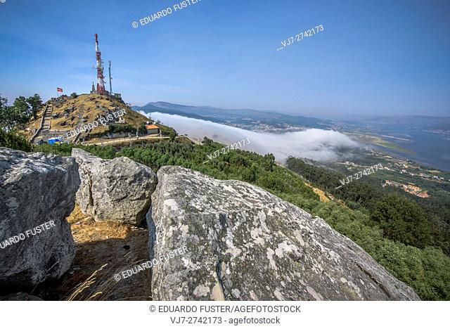 Views from Santa Tecla mountain (Pontevedra, Spain)