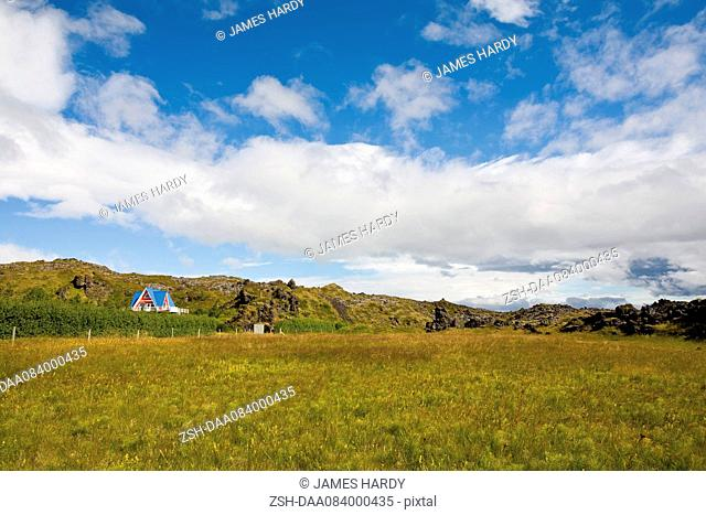 Tranquil countryside, Hellnar, Iceland