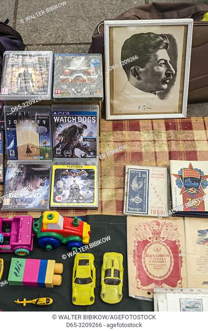 Georgia, Tbilisi, Dry Bridge Market, souvenir market, Stalin souvenirs