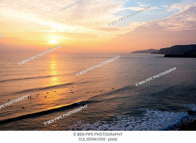 Sunset at Kimmeridge bay, Dorset, UK