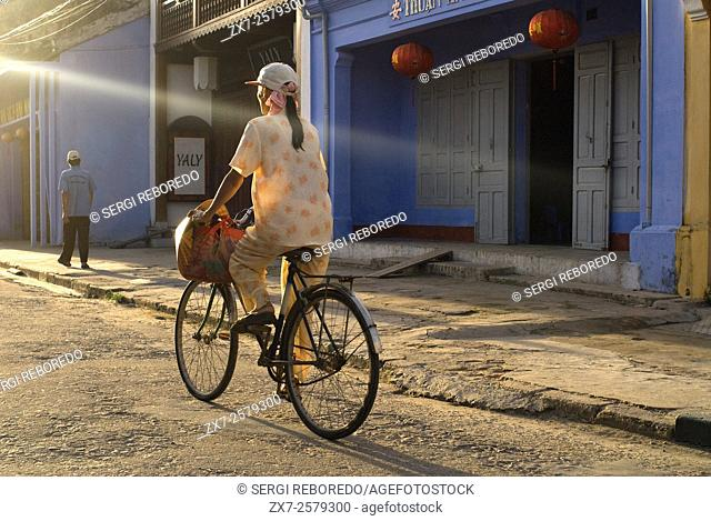 Vietnam, Quang Nam Province, Hoi An, Old Town, listed as World Heritage by UNESCO, traditional house. Bach Dang street. Vietnam