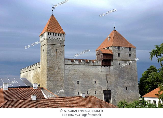 Bishop's Castle with the defence towers of Tall Hermann and Sturvolt, Eagle Castle, Kuressaare, Saaremaa Island, Estonia, Baltic States, Northern Europe