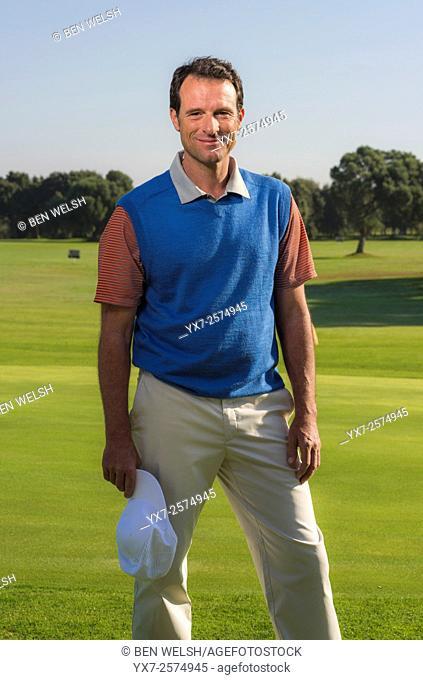 Portrait of a golf pro