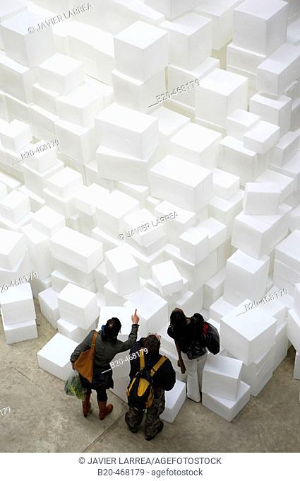 Embankment, by Rachel Whiteread, The Unilever Series, Turbine Hall, Tate Modern, London. England. UK