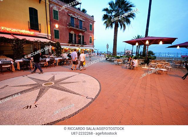 Italy, Liguria, Laigueglia, Wind Rose