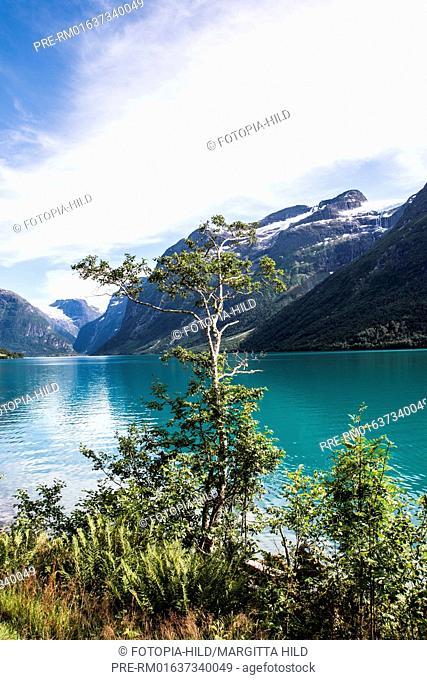 Lovatnet, Stryn, Sogn og Fjordane Fylke, Norway, July 2016 / Lovatnet, Stryn, Sogn og Fjordane Fylke, Norwegen, Juli 2016