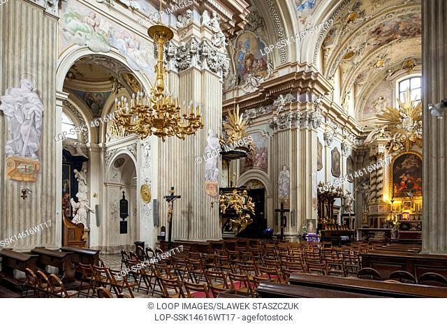 Baroque church of Saint Anna in Krakow
