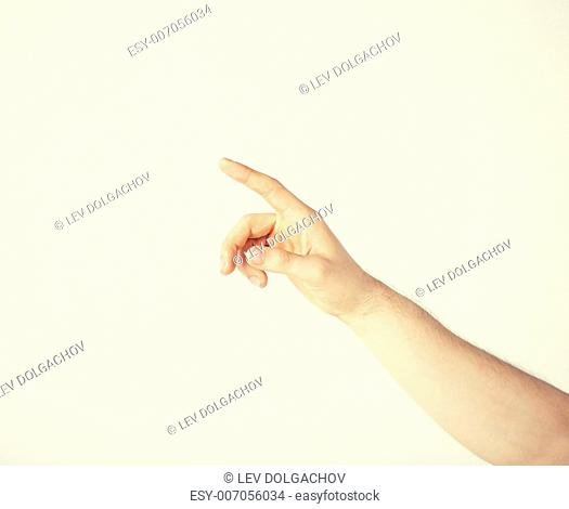 picture of man hand pointing at something