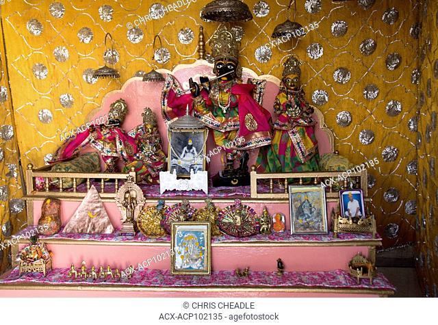 Shrine at temple, Jaipur, Rajastan, India