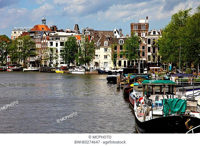 town canal in Amsterdam, Netherlands, Amsterdam