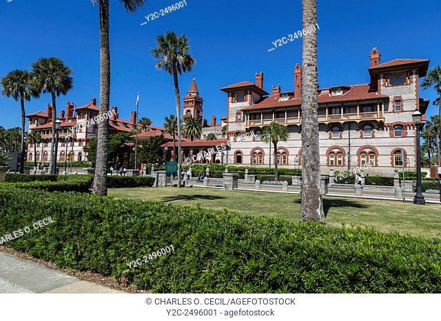 St. Augustine, Florida, USA. Flagler College, Ponce de Leon Hotel, Built 1888